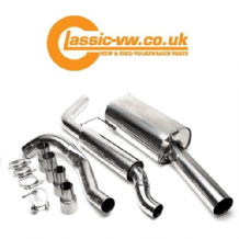 Mk1 Golf Cabriolet & Scirocco Stainless Steel Exhaust System, Slash Cut Tip